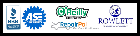 Certifications Image: Better Business Bureau O'Reilly Repair Pal ASE Certified Rowlett Chamber of Commerce